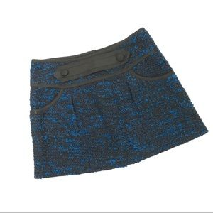 Nanette Lepore Blue Tweed Mini Skirt